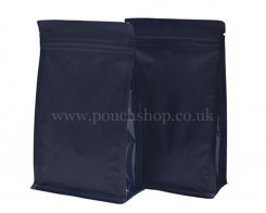 Matt Black Flat Bottom Pouch with Zipper