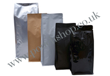 Flat Bottom Pouch with Valve No Zip
