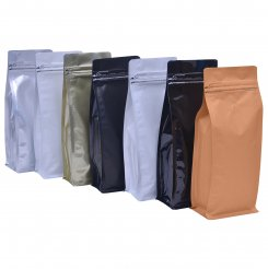 Flat Bottom Pouch with Pocket Zipper and Valve