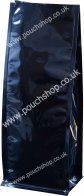 Flat Bottomed Pouch without Zipper Shiny Black