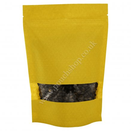 Striped Yellow Kraft Paper with Window